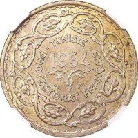 Τυνησία Tunisia 10 Francs 1954 NGC MS64 Mintage 1703
