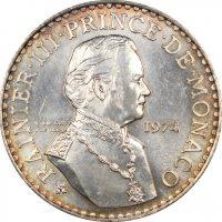 Μονακό Monaco 50 Francs 1974 Silver Rainier III