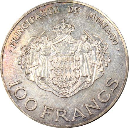 Μονακό Monaco 100 Francs 1982 Silver Rainier III