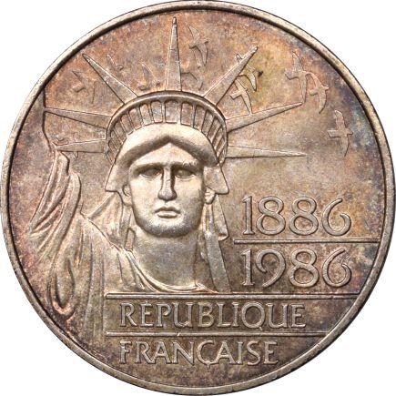 Γαλλία France 100 Francs 1986 Silver