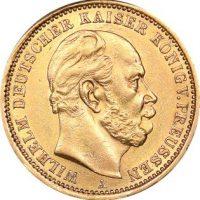 Γερμανία Χρυσό Germany 20 Mark 1875 Gold