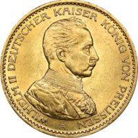 Γερμανία Χρυσό Germany 20 Mark 1914 Gold