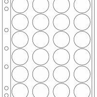 Πλαστικά Φύλλα ENCAP 24 Θέσεων Για Νομίσματα 36mm - 37mm (2 Φύλλα)