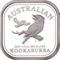 Australia Αυστραλία Half Oz 2003 Ασημένιο 50 Cents Kookaburra
