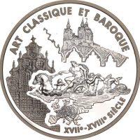 Γαλλία France Europa Silver Coin 2000 Art Classique Et Baroque
