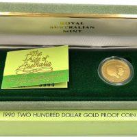 Αυστραλία Χρυσό Νόμισμα 200 Δολάρια 1990 Platypus