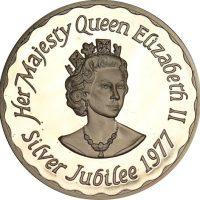 RSilver Medal Queen Elizabeth II Silver Jubilee 1977