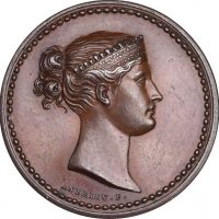 Uniface Trial Medal Empress Josephine Bonaparte By Andrieu F