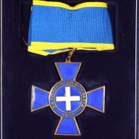 Ελληνικό Μετάλλιο Ταξιάρχης Τιμής Σε Βελούδινη Κασετίνα