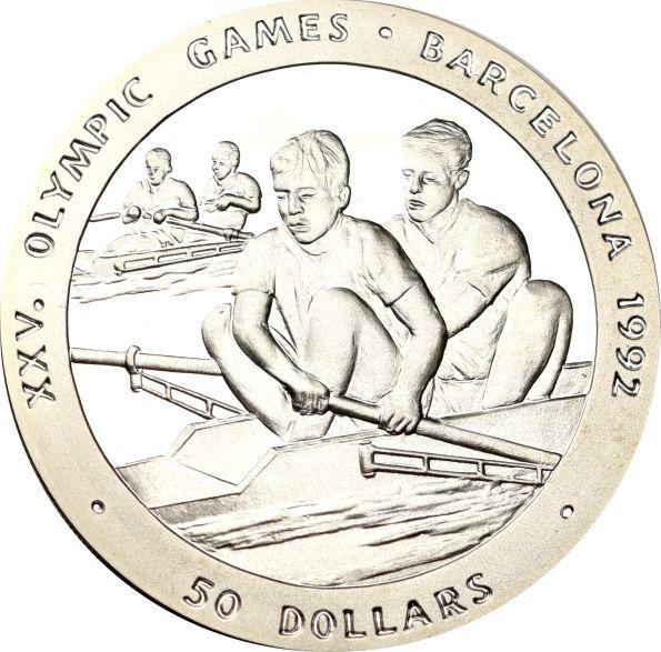 Νέα Ζηλανδία New Zealand 50 Dollars 1989 Barcelona Olympics