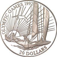 Κιριμπάτι Kiribati 20 Dollars 1992 Barcelona Olympics