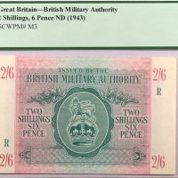 Ξένες Δυνάμεις British Militrary Authority 2 Shillings 6 Pence PCGS 55