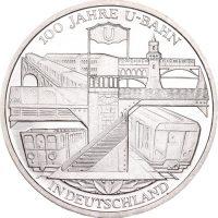 Γερμανία Germany 10 Euro Silver 2002 100 Years U Bahn