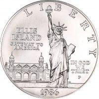 Ηνωμένες Πολιτείες USA 1 Dollar Silver 1986 Ellis Island