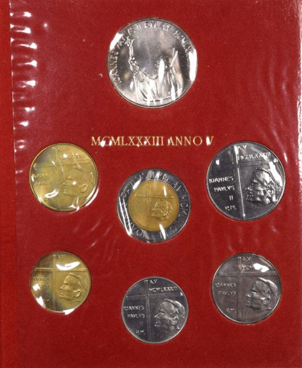 Vatican Pope John Paul II Mint Set 1983 With Silver Coin