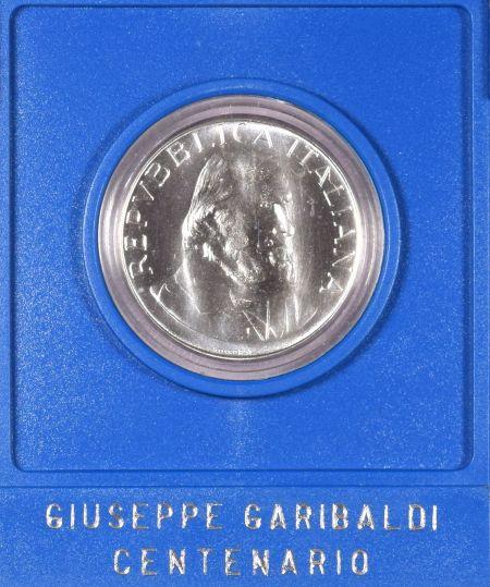 Italy 500 Lire 1982 Silver Coin Garibaldi With Plastic Case