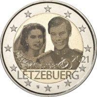 Λουξεμβούργο 2 Ευρώ 2021 40th Anniversary Of Wedding Photo Like Version