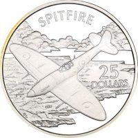 Solomon Islands Silver 1 Oz 25 Dollars 1973 Spitfire