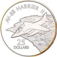 Solomon Islands Silver 1 Oz 25 Dollars 1973 Harrier