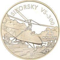 Solomon Islands Silver 1 Oz 25 Dollars 1973 Sikorsky VS300