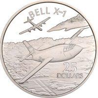Solomon Islands Silver 1 Oz 25 Dollars 1973 Bell X1