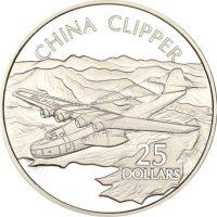 Solomon Islands Silver 1 Oz 25 Dollars 1973 China Clipper
