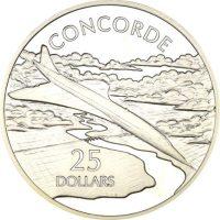 Solomon Islands Silver 1 Oz 25 Dollars 1973 Concorde