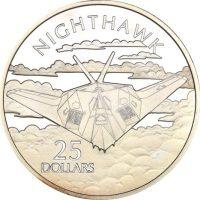 Solomon Islands Silver 1 Oz 25 Dollars 1973 Night Hawk
