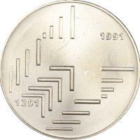 Ελβετία Switzerland 20 Francs 1291 1991 Silver 700th Anniversary