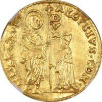 Italy Venice Gold Zecchino Alvise Contarini 1676-1684 NGC MS60