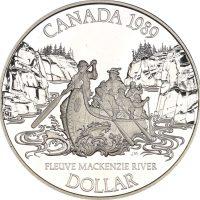 Καναδάς Canada 1 Dollar Silver Proof 1989 Mckenzie River