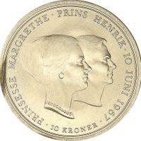 Δανία Denmark 10 Kroner 1967 Princes Margaret & Prince Henry