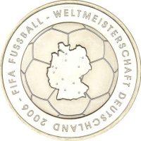 Γερμανία Germany 10 Euro Silver 2006 Footbal World Cup