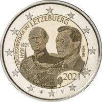 Λουξεμβούργο 2 Ευρώ 2021 Grand Duke John Photo Like Version