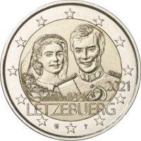 Λουξεμβούργο 2 Ευρώ 2021 40th Anniversary Of Wedding High Relief Version