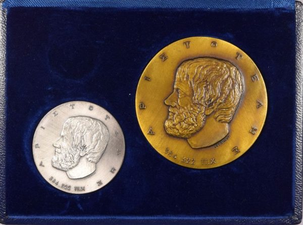 Unesco Ασημένιο Και Χάλκινο Μετάλλιο 1978 Θάνατο Αριστοτέλη