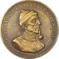 Γαλλικό Μετάλλιο Calypso Jacques Yves Cousteau Χαράκτης Duboc