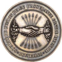 Belgium Medal Union D' Assurance Contre Incendie 1866
