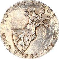 Νορβηγία 100 Kroner 1982 Anniversary Of King Olavs Reign