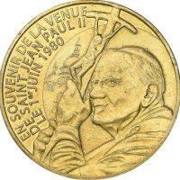 Medal Pope John Paul II 1980 Monnaie De Paris