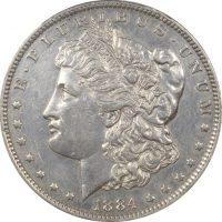 Ηνωμένες Πολιτείες USA Morgan Dollar 1884 O PCGS AU Details