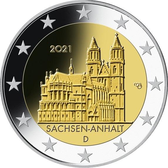 Γερμανία 2 Ευρώ 2021 Saxony Anhalt Magdeburg Cathedral