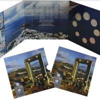 Ελλάδα Σειρά 8 Νομισμάτων Ευρώ 2021 Σε Τρίπτυχο Τουρισμός - Νάξος