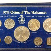 Μπαχάμες Bahamas 1971 Proof Set With Case And Certificate