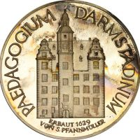 Γερμανία Germany Silver Medal Altes Paedagogin Darmstadi 1976