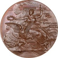 Athens 1896 Olympic Games Bronze Participation Medal With Case FDC