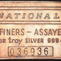 Ασημένια Μπάρα National Assayers Refiners 1 Troy Ounce 999