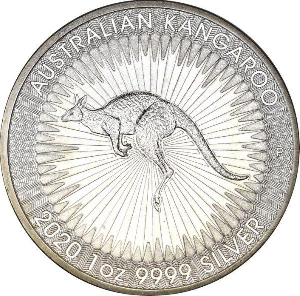 Australian Kangaroo 1 Dollar Silver 9999 1 Oz 2020 Proof