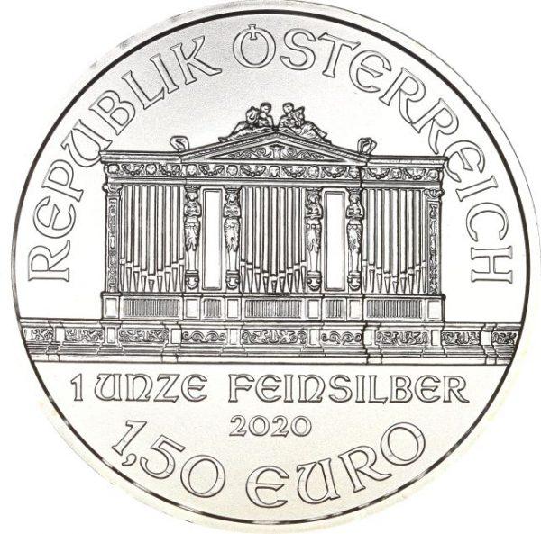Austria Vienna Philarmonic 1,5 Euro Silver 9999 1 Oz 2020