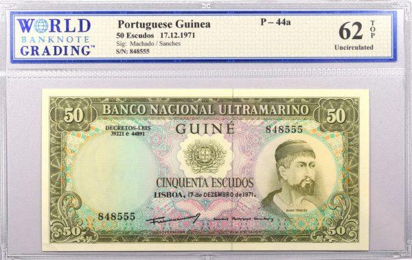 Portuguese Guinea 50 Escudos 1971 Ultramarino Bank WBG 62